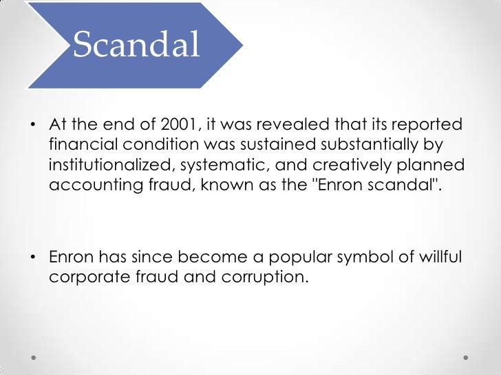 enron and its shortcomings essay And enron revised its financial statement for the previous five years and found that there was $586million in losses enron fall to bankruptcy on december 2, 2001.