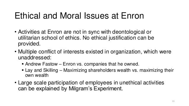 Enron and utilitarianism