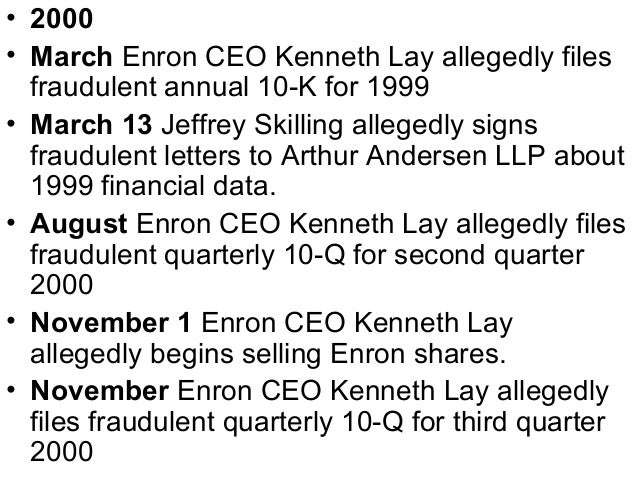 How the auditors behaved with Enron