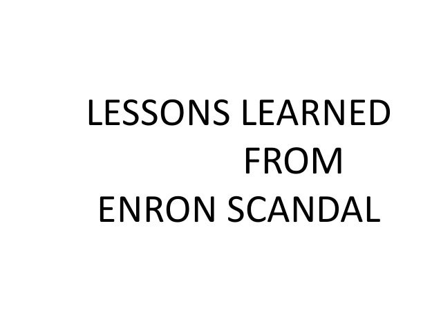 Lessons From Enron