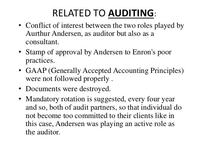 auditors behavior in an audit conflict An auditor will sooner or later be faced with two kinds of conflicts: conflict of interest and interpersonal conflict is audit basics: the soft skills challenge, part 3: dealing with conflict trust in, and value from, information systems.