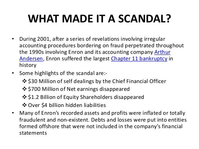 Mccarty, ms. Jaclyn / andersen and enron accounting scandal.