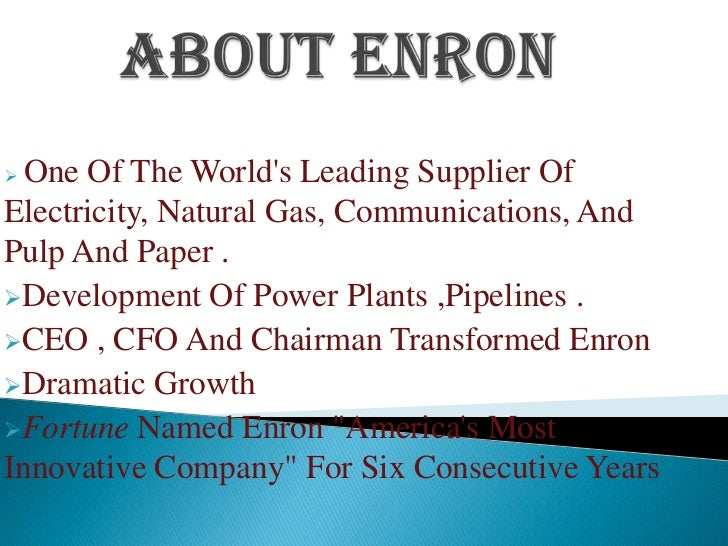 natural gas and enron How can the answer be improved.
