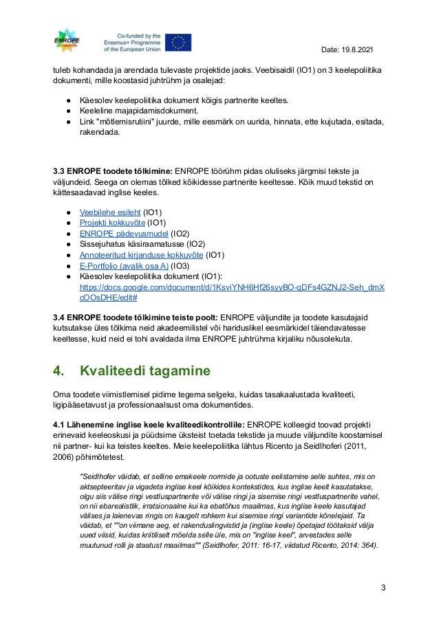Enrope language policy - estonian Slide 3