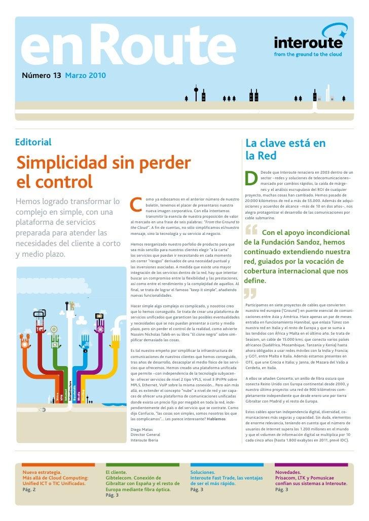 enRoute  Número 13 Marzo 2010     Editorial                                                                              ...