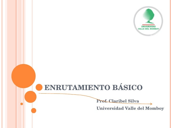 ENRUTAMIENTO BÁSICO Prof. Claribel Silva Universidad Valle del Momboy