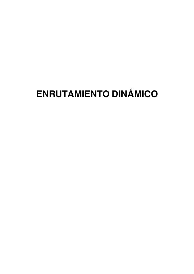 ENRUTAMIENTO DINÁMICO
