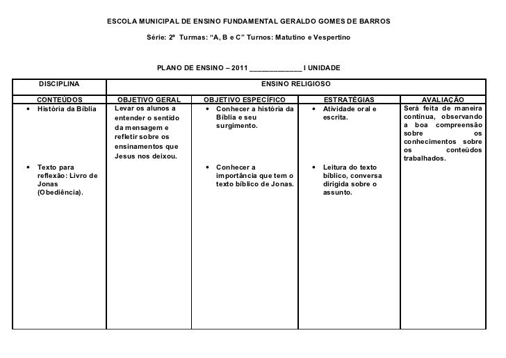 """ESCOLA MUNICIPAL DE ENSINO FUNDAMENTAL GERALDO GOMES DE BARROS                                  Série: 2ª Turmas: """"A, B e ..."""