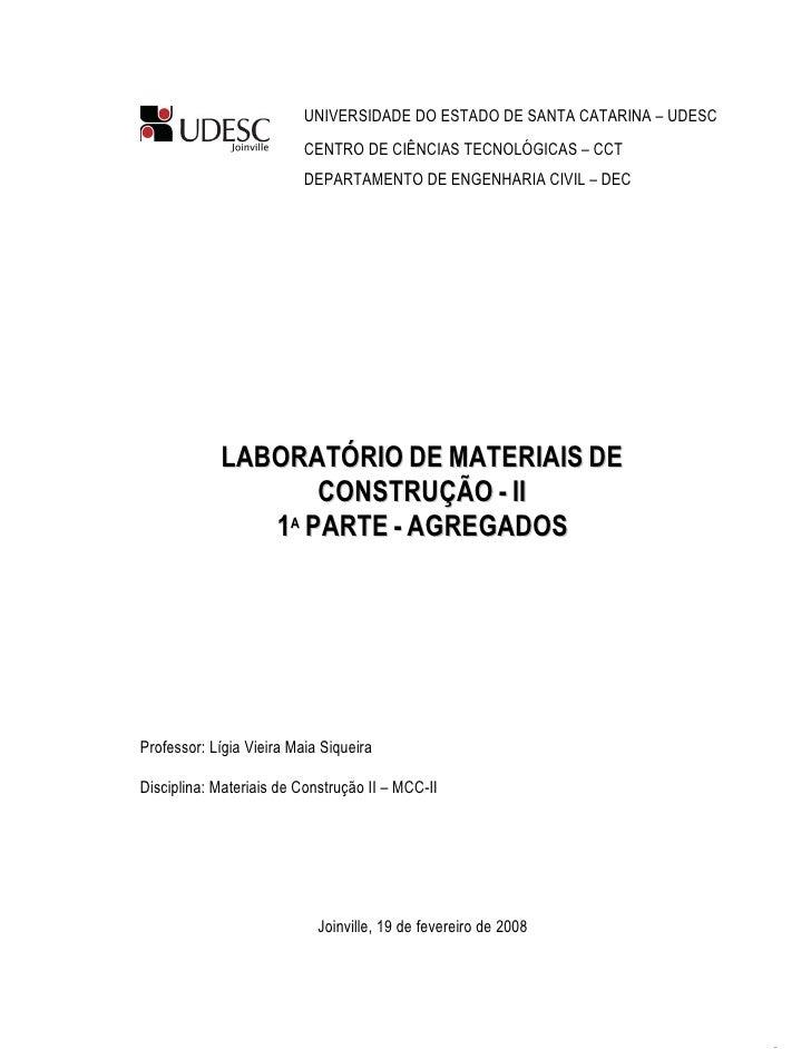 UNIVERSIDADE DO ESTADO DE SANTA CATARINA – UDESC                          CENTRO DE CIÊNCIAS TECNOLÓGICAS – CCT           ...