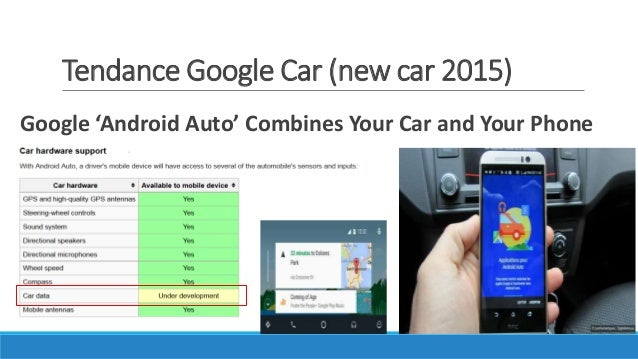 Tendance Google Car (new car 2015) Google 'Android Auto' Combines Your Car and Your Phone
