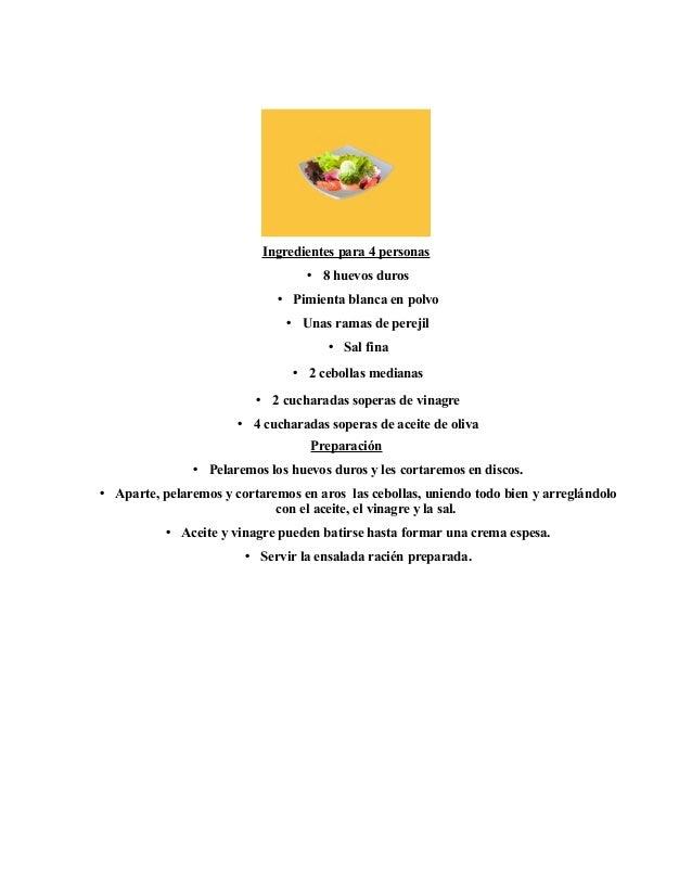 Ingredientes para 4 personas • 8 huevos duros • Pimienta blanca en polvo • Unas ramas de perejil • Sal fina • 2 cebollas m...