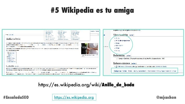 @mjcachon#EnsaladaSEO https://es.wikipedia.org/wiki/Anillo_de_boda #5 Wikipedia es tu amiga https://es.wikipedia.org