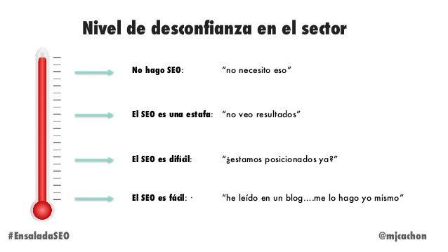 """Nivel de desconfianza en el sector @mjcachon#EnsaladaSEO No hago SEO: """"no necesito eso"""" El SEO es difícil: """"¿estamos posic..."""