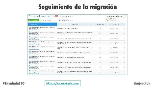 @mjcachon Seguimiento de la migración #EnsaladaSEO https://es.semrush.com