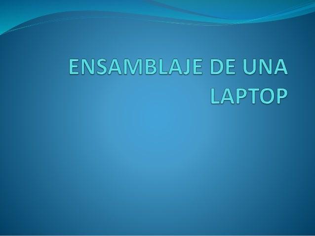 INSTRUCCIONES  Considera la función principal de tu nueva computadora portátil. Piensa si vas a utilizar la computadora p...