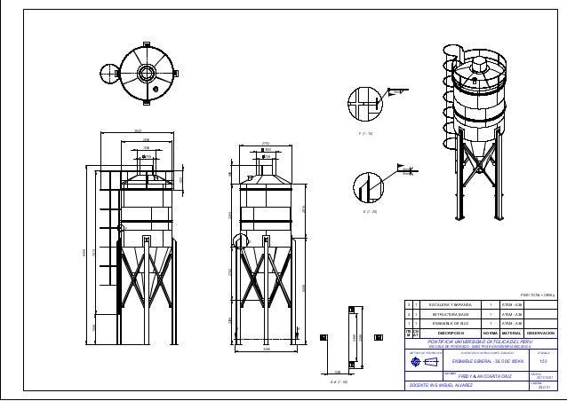 Plano de silo estructura metalica for Planos de estructuras