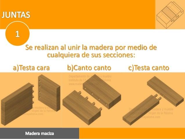 Ensambles y sistemas de uni n con madera - Canto para madera ...