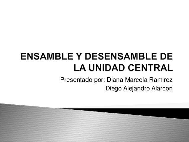 Presentado por: Diana Marcela Ramirez               Diego Alejandro Alarcon
