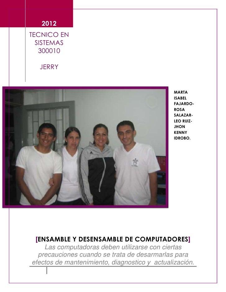 2012TECNICO EN  SISTEMAS   300010  JERRY                                               MARTA                              ...
