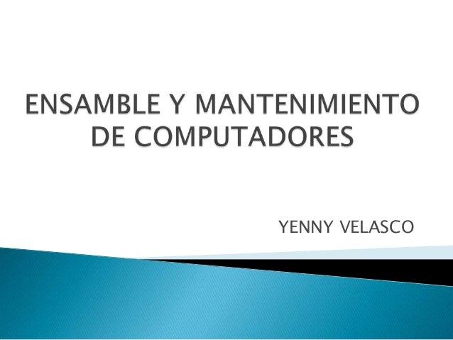 YENNY VELASCO