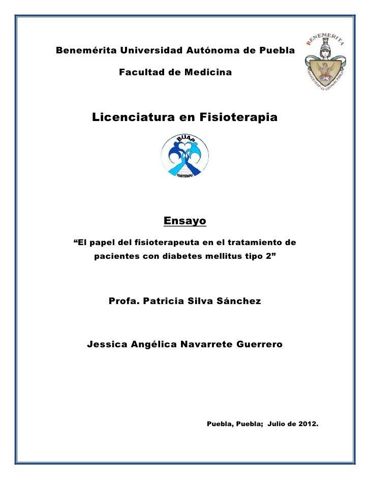Benemérita Universidad Autónoma de Puebla            Facultad de Medicina       Licenciatura en Fisioterapia              ...