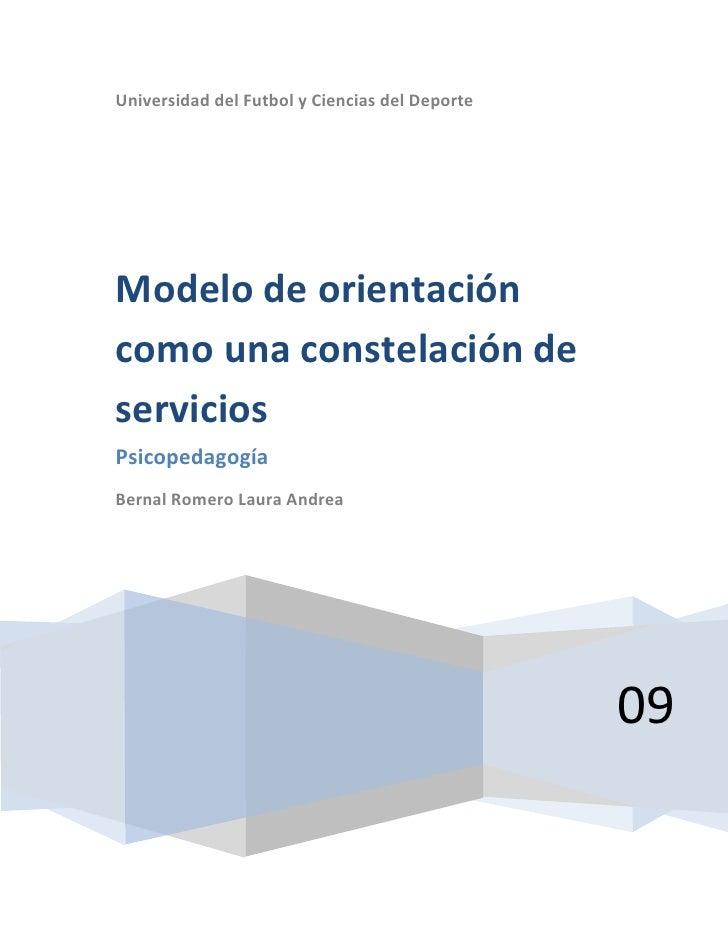Universidad del Futbol y Ciencias del Deporte09Modelo de orientación como una constelación de serviciosPsicopedagogíaBerna...