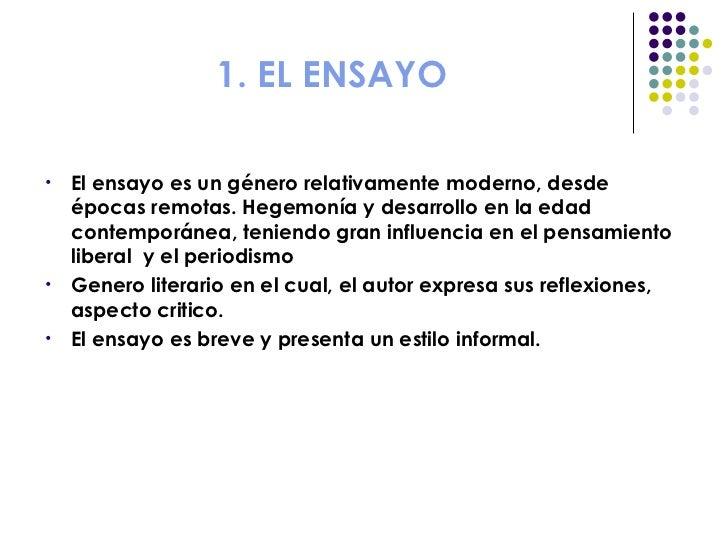 Ensayo for Estilo literario contemporaneo