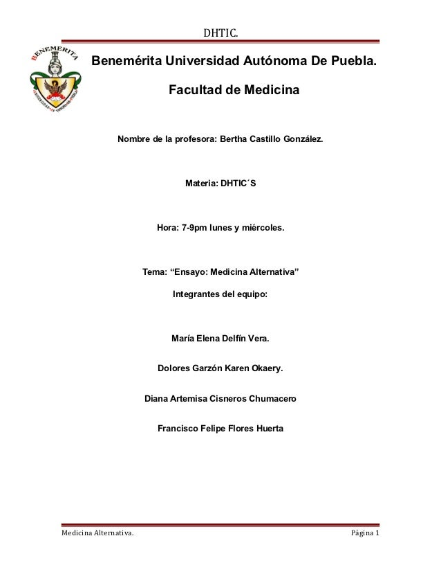 DHTIC.        Benemérita Universidad Autónoma De Puebla.                              Facultad de Medicina                ...