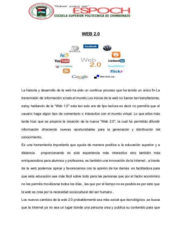 Ensayo sobre la web 2 0 en la educacion