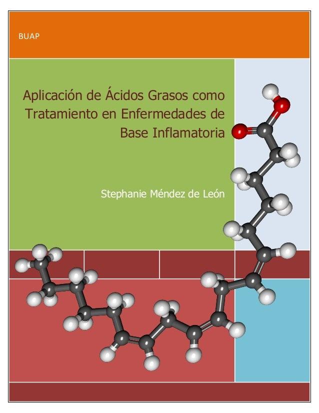 BUAP Aplicación de Ácidos Grasos como Tratamiento en Enfermedades de Base Inflamatoria Stephanie Méndez de León