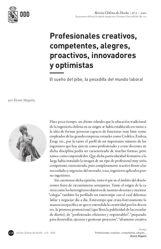 Revista Chilena de Diseño – nº 2 – 2012                                                        Departamento de Diseño, Fac...