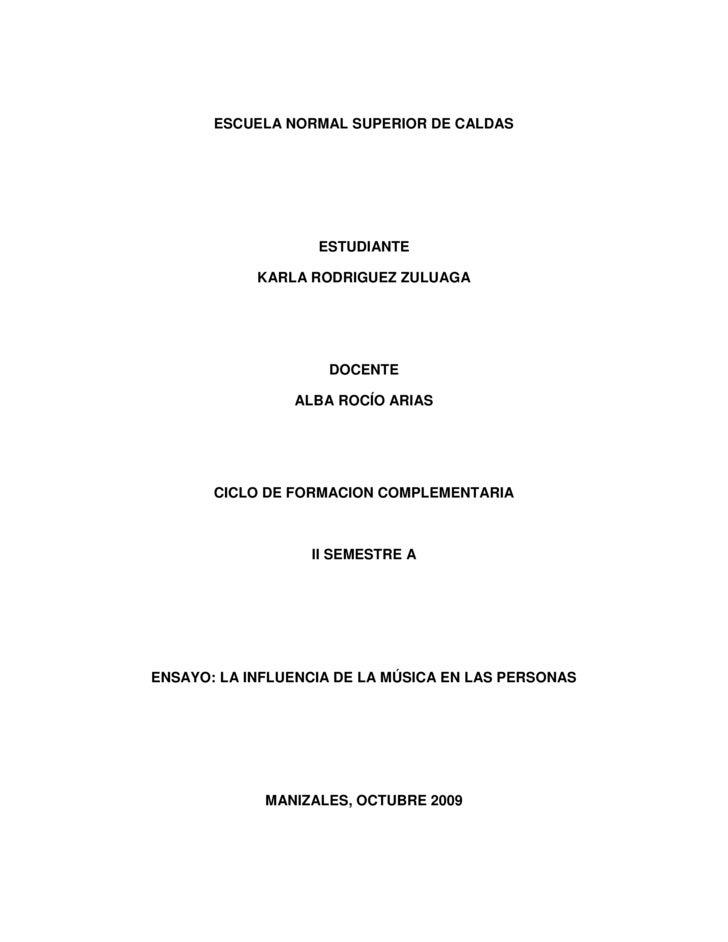 ESCUELA NORMAL SUPERIOR DE CALDAS<br />ESTUDIANTE <br />KARLA RODRIGUEZ ZULUAGA<br />DOCENTE<br />ALBA ROCÍO ARIAS<br />CI...