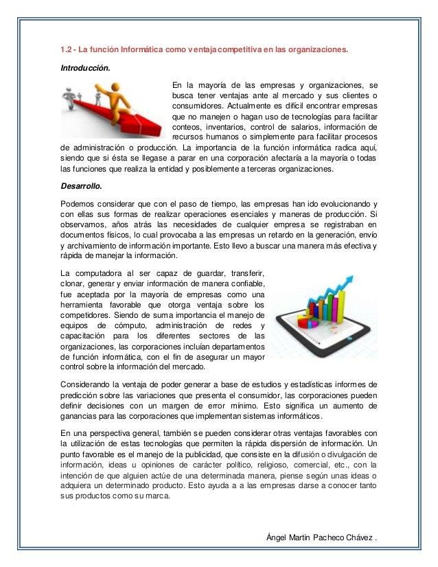 1.2 La función Informática como ventaja competitiva en las organizaciones Slide 2