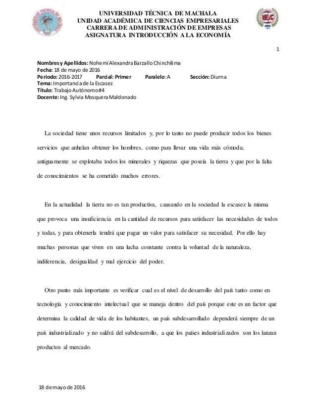 UNIVERSIDAD TÉCNICA DE MACHALA UNIDAD ACADÉMICA DE CIENCIAS EMPRESARIALES CARRERA DE ADMINISTRACIÓN DE EMPRESAS ASIGNATURA...