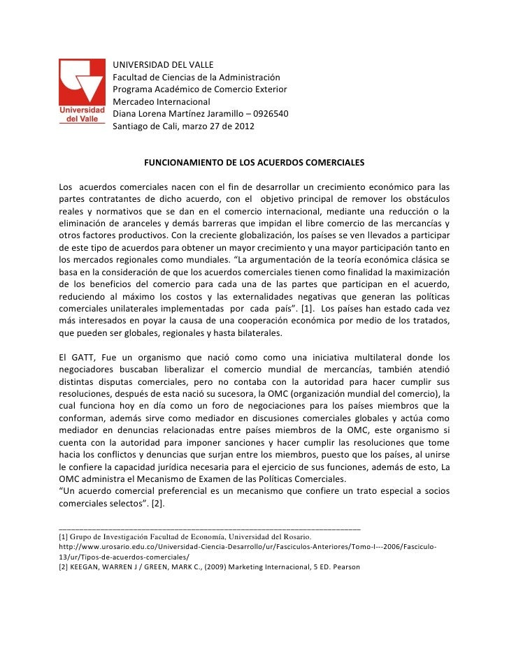 UNIVERSIDAD DEL VALLE               Facultad de Ciencias de la Administración               Programa Académico de Comercio...