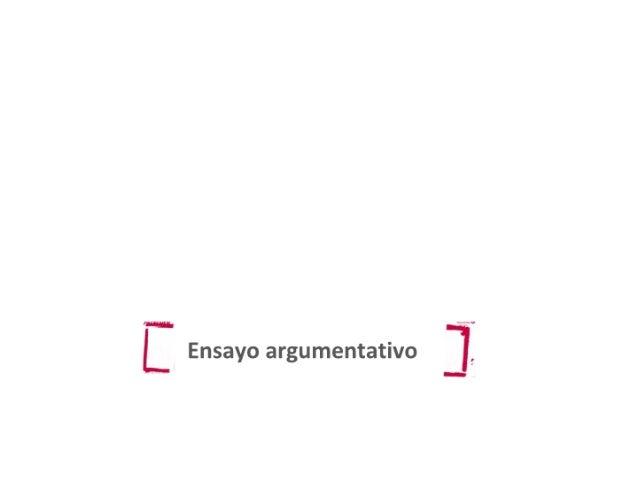 Ensayo argumentativo