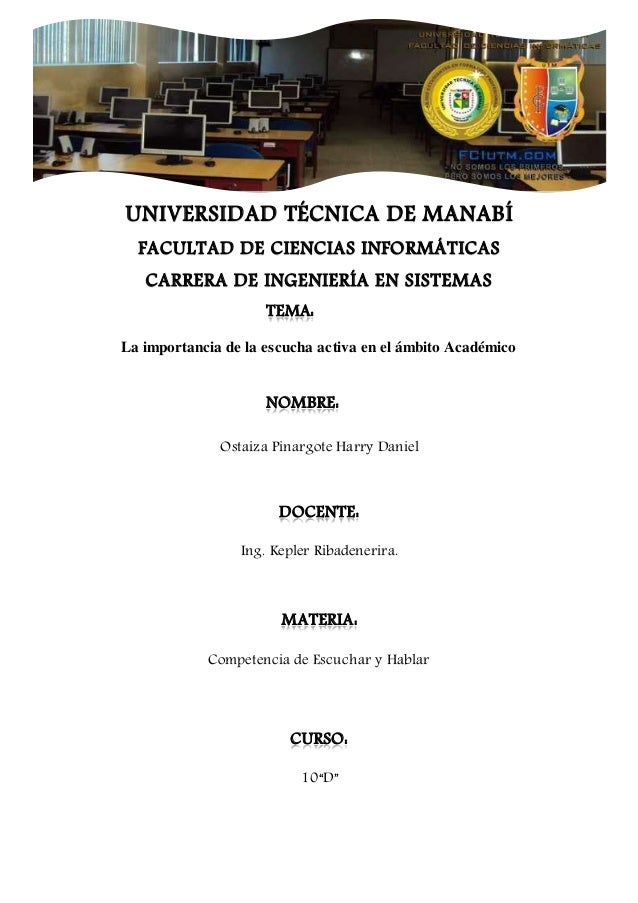 UNIVERSIDAD TÉCNICA DE MANABÍ FACULTAD DE CIENCIAS INFORMÁTICAS CARRERA DE INGENIERÍA EN SISTEMAS TEMA: La importancia de ...