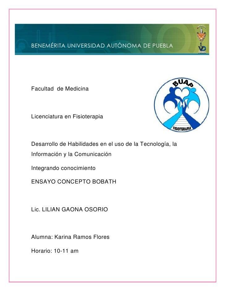 BENEMÉRITA UNIVERSIDAD AUTÓNOMA DE PUEBLAFacultad de MedicinaLicenciatura en FisioterapiaDesarrollo de Habilidades en el u...