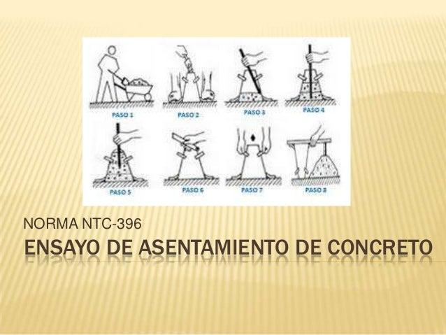 NORMA NTC-396  ENSAYO DE ASENTAMIENTO DE CONCRETO