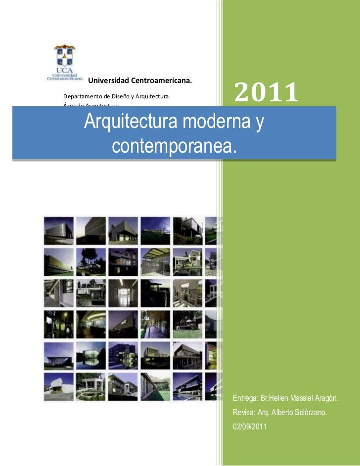 Ensayo de la arquitectura moderna for Departamentos arquitectura moderna