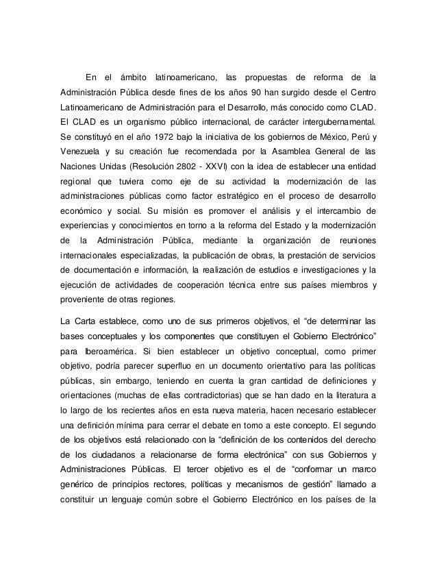 En el ámbito latinoamericano, las propuestas de reforma de la Administración Pública desde fines de los años 90 han surgid...