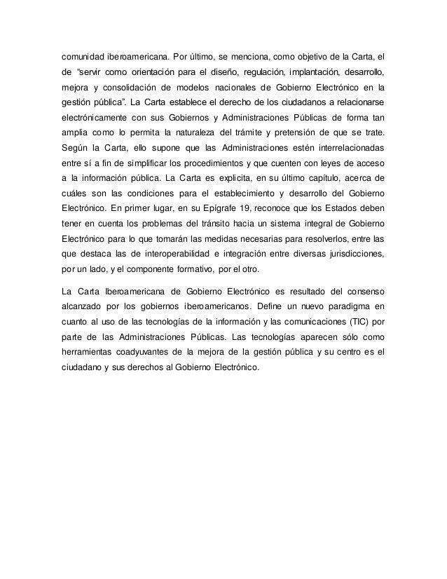 """comunidad iberoamericana. Por último, se menciona, como objetivo de la Carta, el de """"servir como orientación para el diseñ..."""