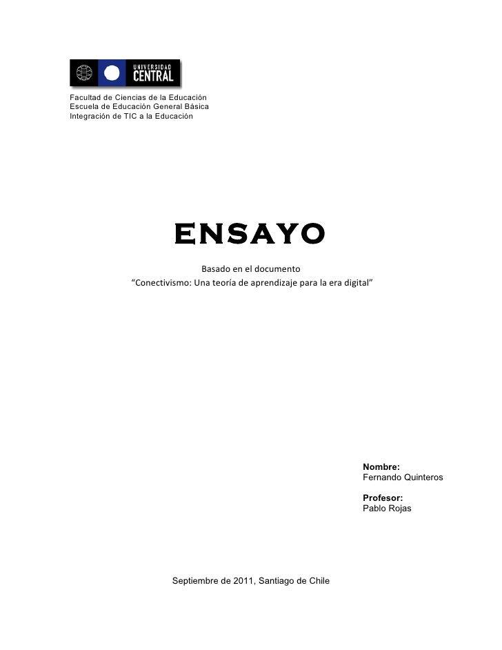 Facultad de Ciencias de la EducaciónEscuela de Educación General BásicaIntegración de TIC a la Educación                  ...