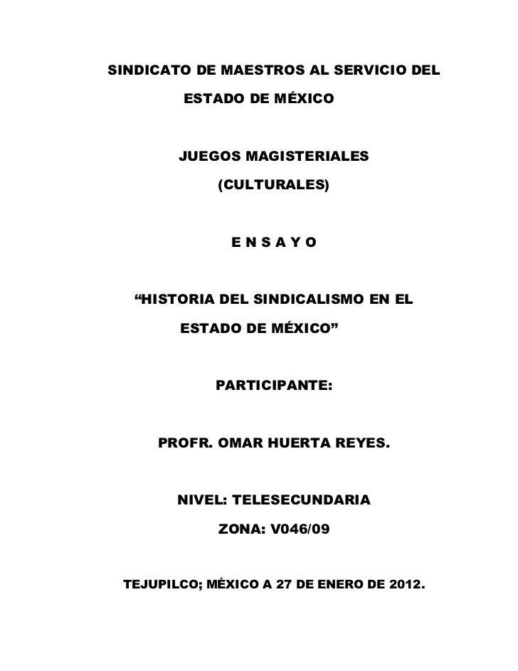 SINDICATO DE MAESTROS AL SERVICIO DEL        ESTADO DE MÉXICO        JUEGOS MAGISTERIALES             (CULTURALES)        ...
