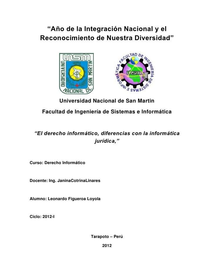"""""""Año de la Integración Nacional y el     Reconocimiento de Nuestra Diversidad""""                Universidad Nacional de San ..."""