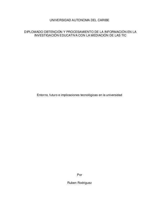 UNIVERSIDAD AUTONOMA DEL CARIBEDIPLOMADO OBTENCIÓN Y PROCESAMIENTO DE LA INFORMACIÓN EN LA     INVESTIGACIÓN EDUCATIVA CON...