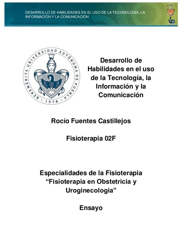 DESARROLLO DE HABILIDADES EN EL USO DE LA TECONOLOGÍA, LA  INFORMACIÓN Y LA COMUNICACIÓN  Desarrollo de  Habilidades en el...