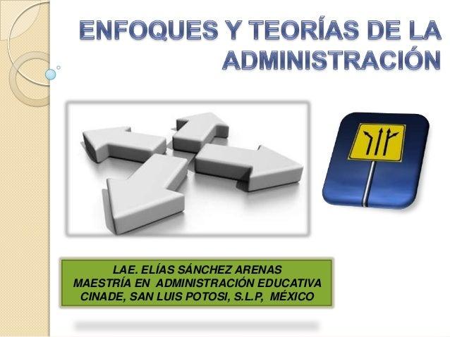 LAE. ELÍAS SÁNCHEZ ARENASMAESTRÍA EN ADMINISTRACIÓN EDUCATIVA CINADE, SAN LUIS POTOSI, S.L.P, MÉXICO
