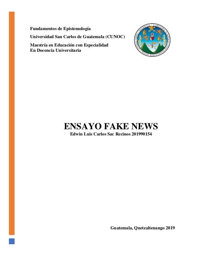 Ensayo Fake News