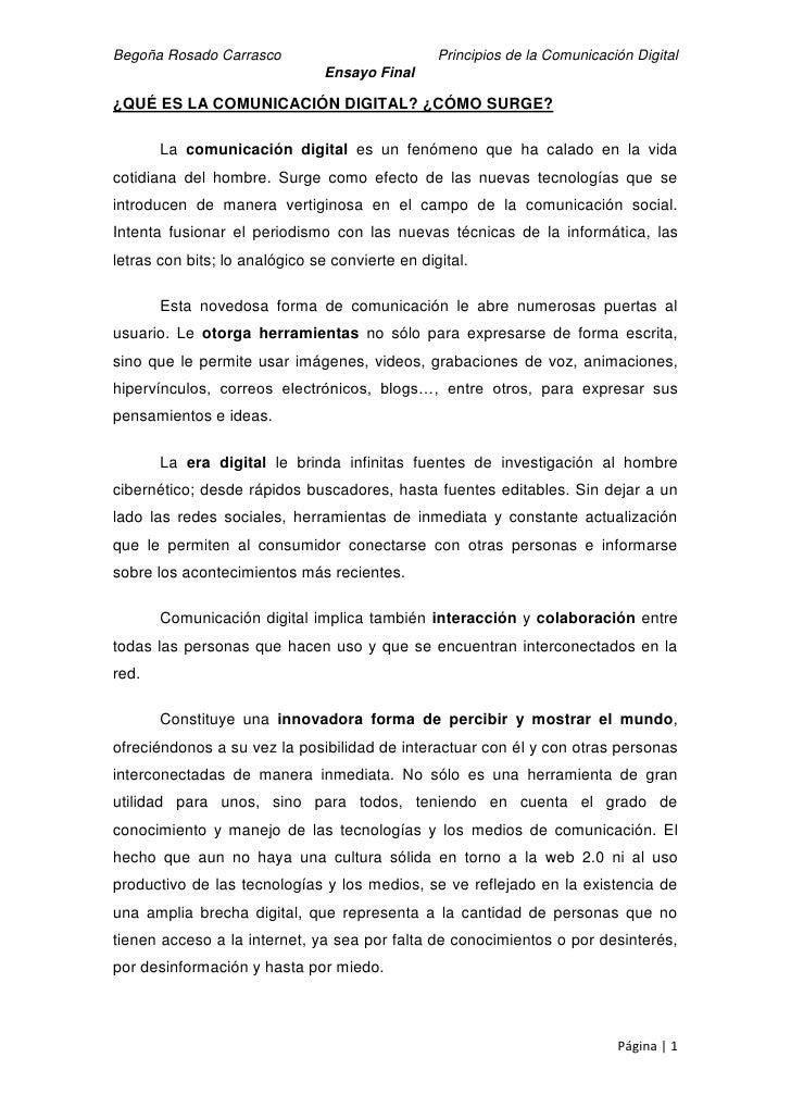Begoña Rosado Carrasco                           Principios de la Comunicación Digital                                Ensa...